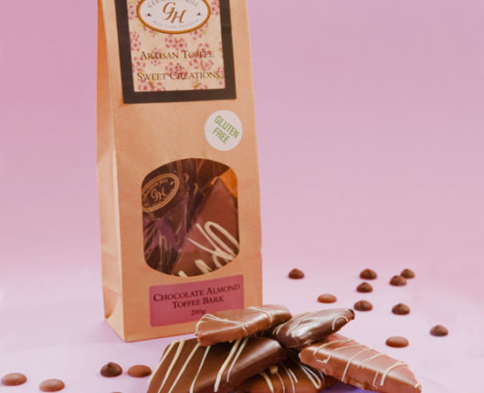 Geraldton Hill Chocolate Almond Toffee Bark Bag