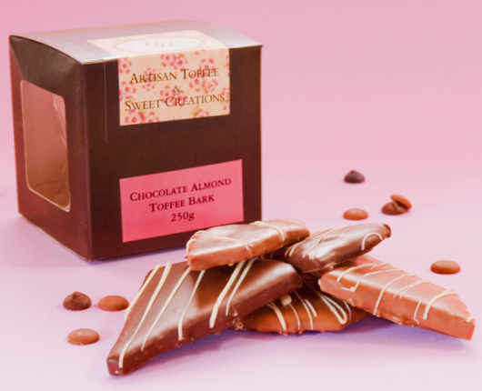 Geraldton Hill Chocolate Almond Toffee Bark Box