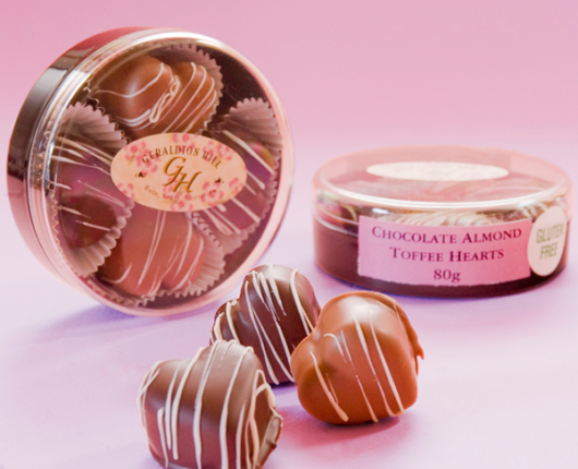 Geraldton Hill Chocolate Almond Toffee Hearts