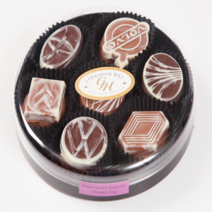 Geraldton Hill Chocolate Almond Toffee Car Emblem
