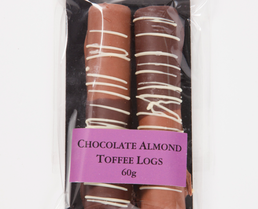 Geraldton Hill Chocolate Almond Toffee Logs