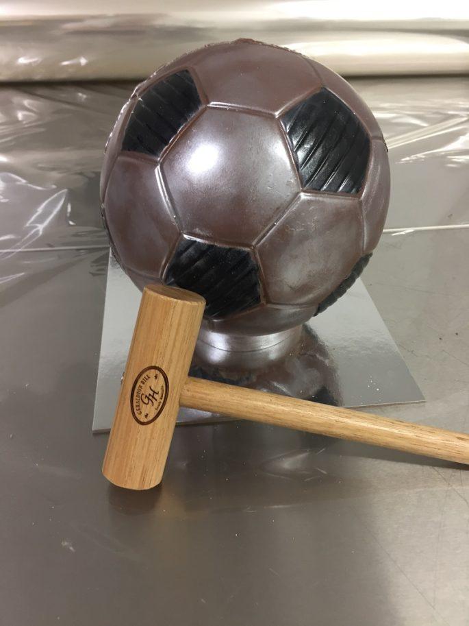 Lolly Bash Cake Soccer ball with hammer birthday fun
