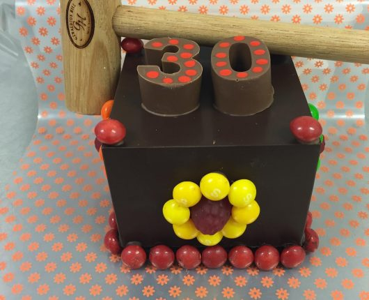 Lolly Bash Cake 30 with Hammer Handmade Chocolate