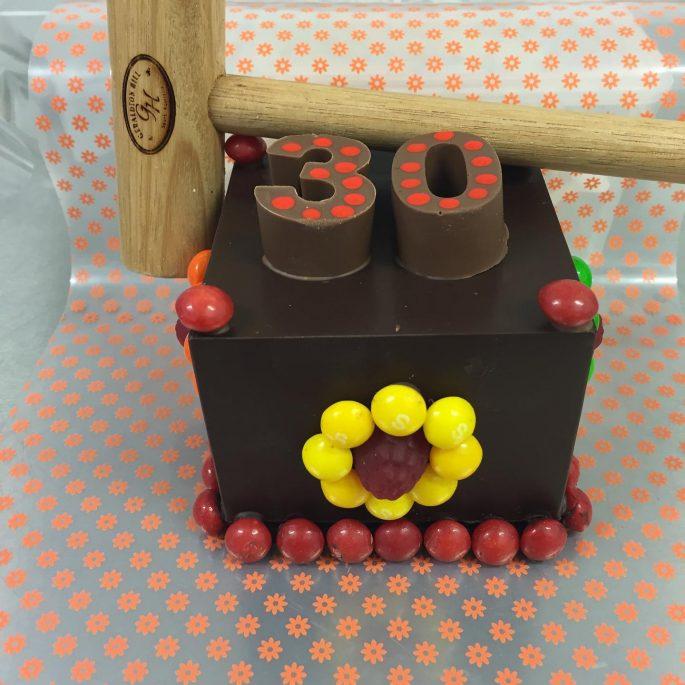 Lolly Bash Cake 30 with Hammer Handmade Chocolate